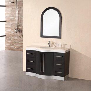Sirena 48 Single Bathroom Vanity Set with Mirror by dCOR design