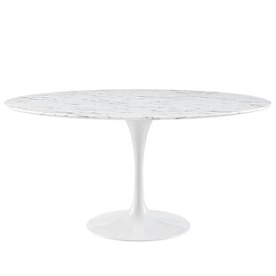 Truet Oval Shaped Marble Coffee Table