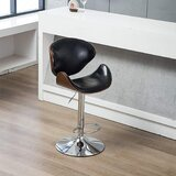 Asi Swivel  Adjustable Height Bar Stool by Orren Ellis