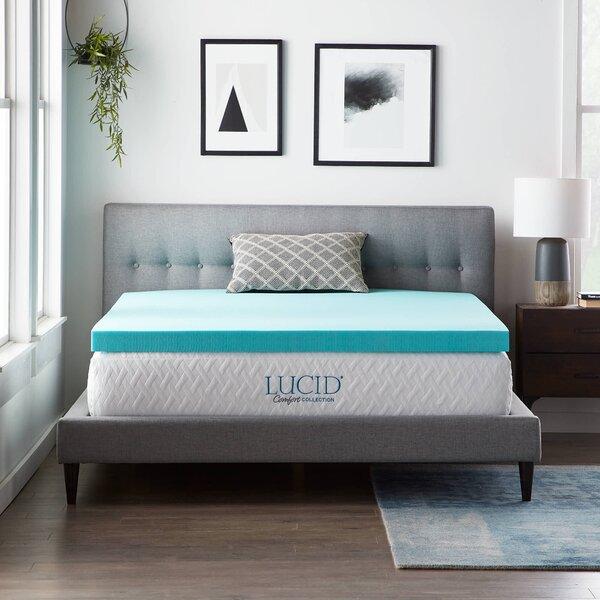 Lucidcomfortcollection Lucid Comfort 3 Gel Memory Foam Mattress Topper Reviews Wayfair