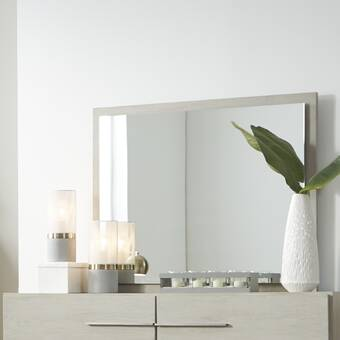 House Of Hampton Withrow Wooden Glamorous Beveled Dresser Mirror Wayfair