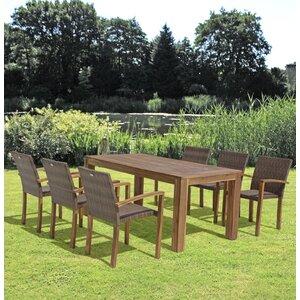 6-Sitzer Gartengarnitur Topeka von Caracella