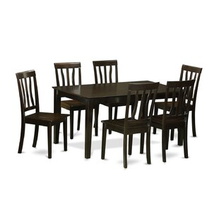 Capri 7 Piece Dining Set by Wooden Importers Savings