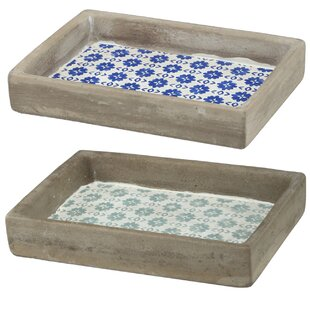 Purchase 2 Piece Accessory Tray Set ByBungalow Rose