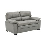 Stak Genuine Leather 66'' Pillow Top Arm Loveseat by Red Barrel Studio®