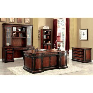 Cheshire 5 Piece Standard Desk Office Suite by Astoria Grand Today Only Sale