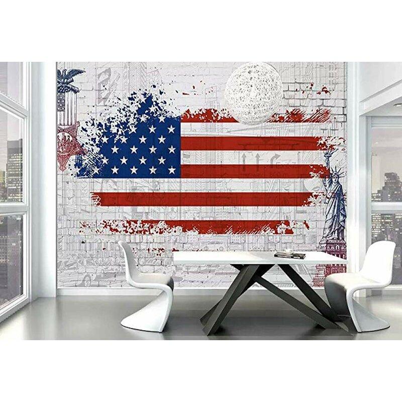 Ebern Designs Speight Usa Flag City