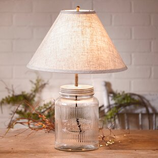 Gracie Oaks Judd Ribbed Mason Jar 21