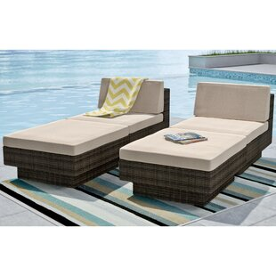 dCOR design Park Terrace Chaise Lounge with Cushion