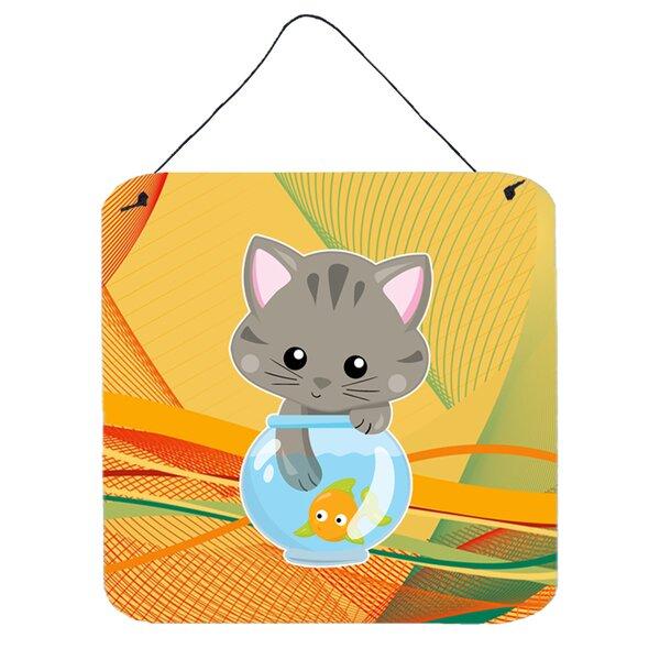Zoomie Kids Kitten in the Fish Bowl Wall Décor | Wayfair