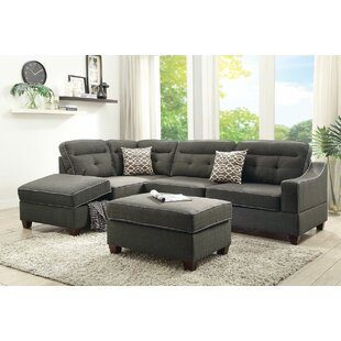 Ivy Bronx Filler 2 Piece Sectional Set with Ottoman
