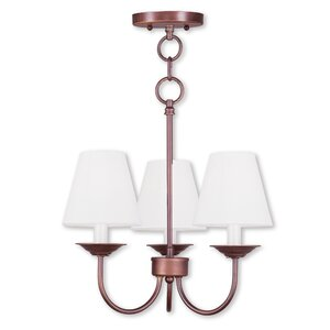 Whitaker Convertible 3-Light Shaded Chandelier