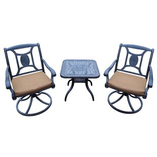 Victoria 3 Piece Dining Set with Cushions