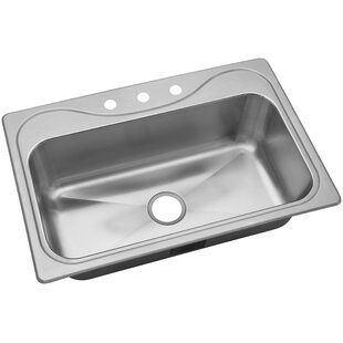 Review Southhaven® 33 x 22 X Single Basin Drop-In Kitchen Sink by Sterling by Kohler