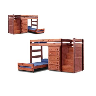 Buy luxury Chery Staircase Twin Over Twin L-Shaped Bunk Bed with Drawers by Harriet Bee Reviews (2019) & Buyer's Guide