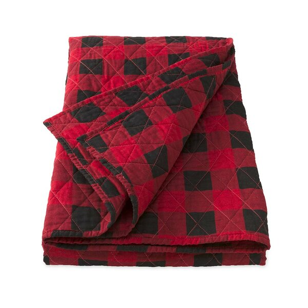 Plow Amp Hearth Buffalo Plaid Cotton Single Reversible Quilt