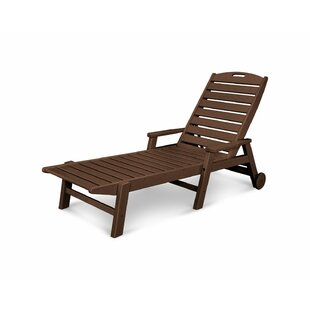 POLYWOOD® Nautical Chaise with Arms & Wheels