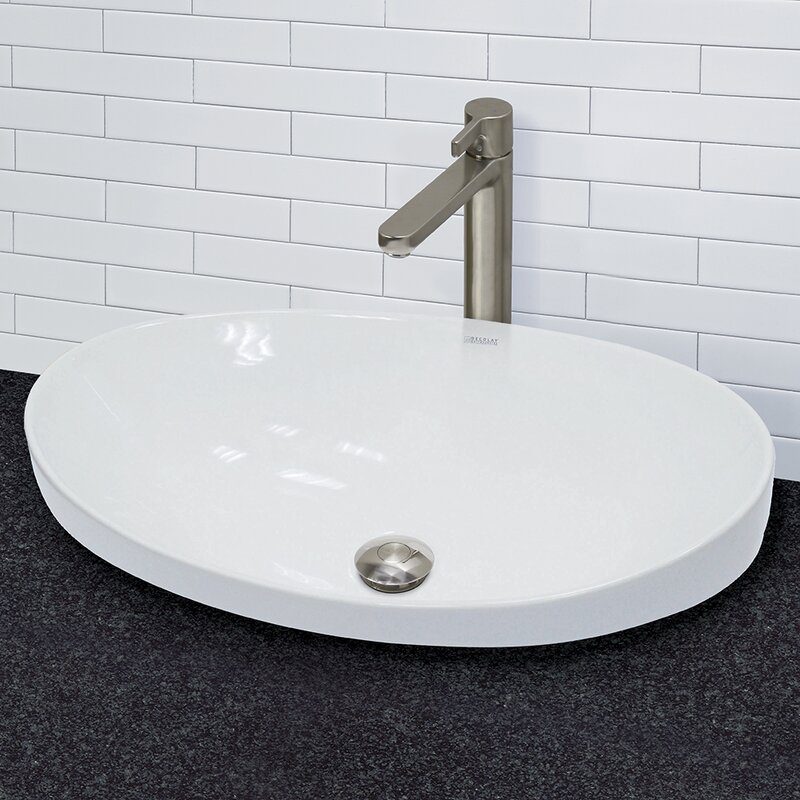 Default nameDECOLAV Vitreous China Above Counter or Semi Recessed Lavatory  . Recessed Bathroom Sinks. Home Design Ideas