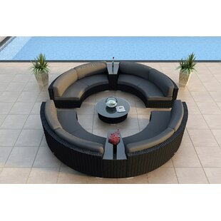 Harmonia Living Urbana 7 Piece Sunbrella Sectional Set with Cushions
