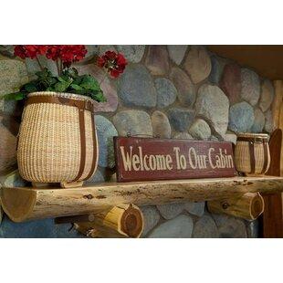 Cedar Fireplace Shelf Mantel By North Shore Log Company