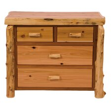 Premium Cedar 4 Drawer Dresser by Fireside Lodge