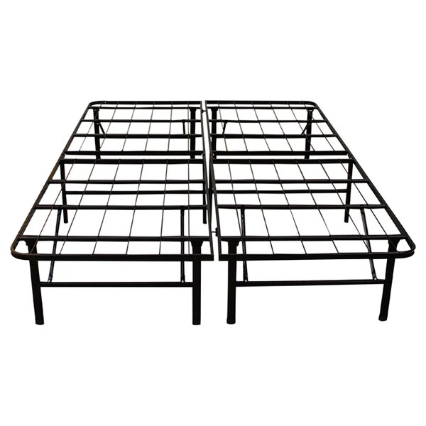 alwyn home 14 platform heavy duty metal bed frame reviews wayfair - Platform Metal Bed Frame