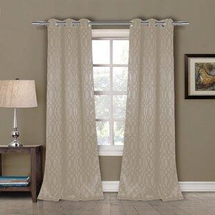Mooneyham Geometric Blackout Grommet Curtain Panels (Set of 2)