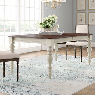 Alise Extendable Solid Wood Dining Table Lark Manor