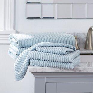 Partone 6 Piece Turkish Cotton Towel Set