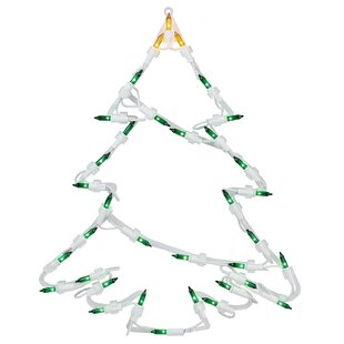 15 tree christmas window silhouette decoration lighted display