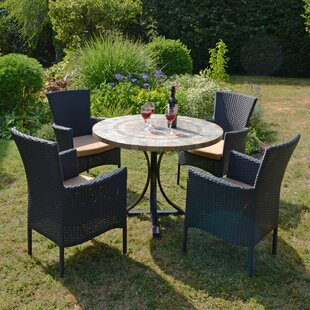 Yvette 4 Seater Dining Set With Cushion By Sol 72 Outdoor