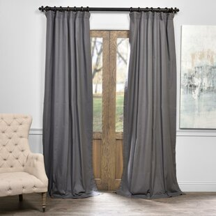 Bryce Solid Max Blackout Thermal Tab Top Single Curtain Panel by Eider & Ivory