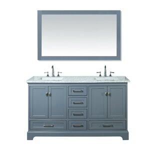 save stian 60 double sink bathroom vanity set - Double Sink Bathroom Vanities