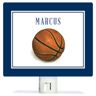 Oopsy Daisy Personalized Sports and Games Basketball Canvas Night Light