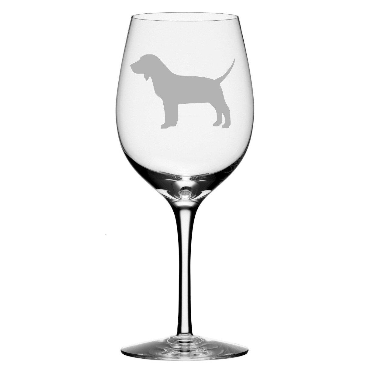 Trinx Beagle Dog 20 Oz Stemmed Wine Glass Wayfair