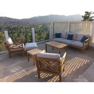 Reyes 6 Piece Teak Sunbrella Sofa Seating Group With Sunbrella Cushions by Rosecliff Heights Cool
