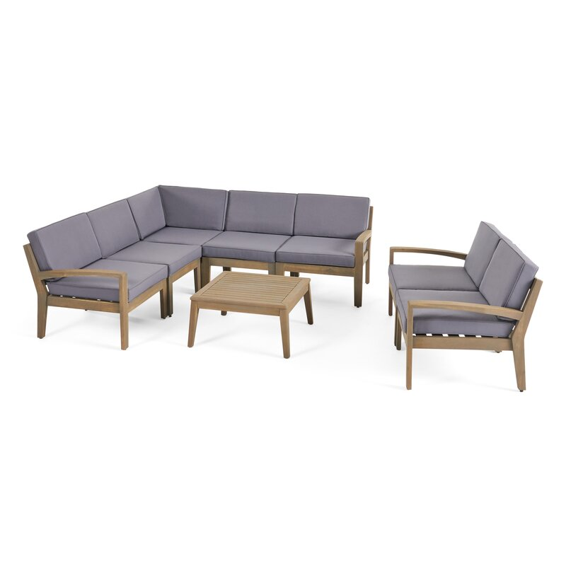 Jamie 7 Piece Sectional Seating Group with Cushion | AllModern