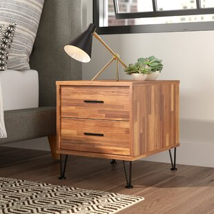 Andres Contemporary 2 Drawer Nightstand