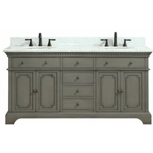 Affordable Ruthann Marble Top 73 Double Bathroom Vanity Set By Ophelia & Co.