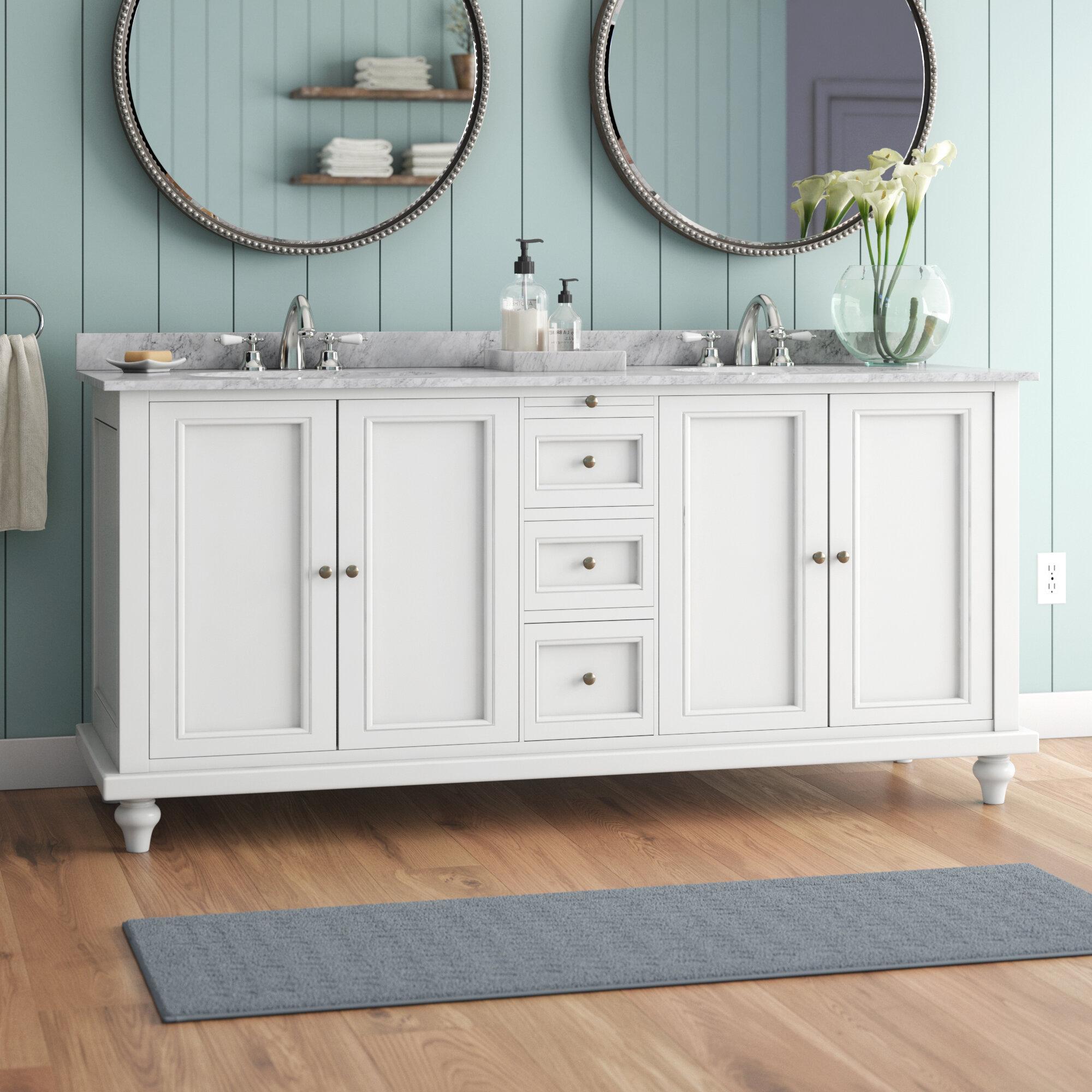 Charlton Home Medfield 71 Double Bathroom Vanity Set Reviews Wayfair