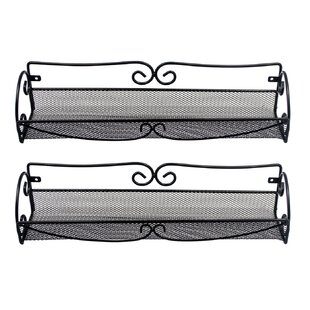 Wall Mount Single Tier Mesh Spice Rack (Set of 2)  sc 1 st  Wayfair : spice cabinets wall mount - Cheerinfomania.Com