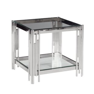 Cleorand 2-Tier Metal/Glass Coffee Table