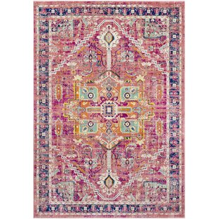 Great choice Anil Distressed Garnet/Purple Area Rug By Bungalow Rose