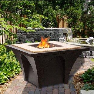 Sunjoy Revel Aluminum/Steel Wood Burning Fire Pit table