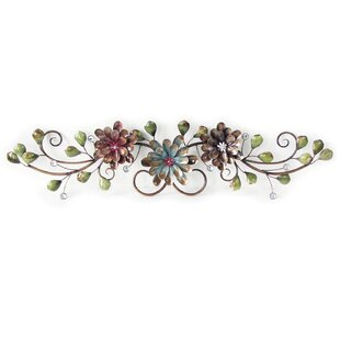 Three Flowers on Vine Wall Decor by Charlton Home