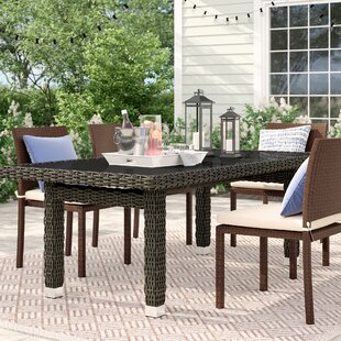 Crowley Glass Dining Table by Sol 72 Outdoor