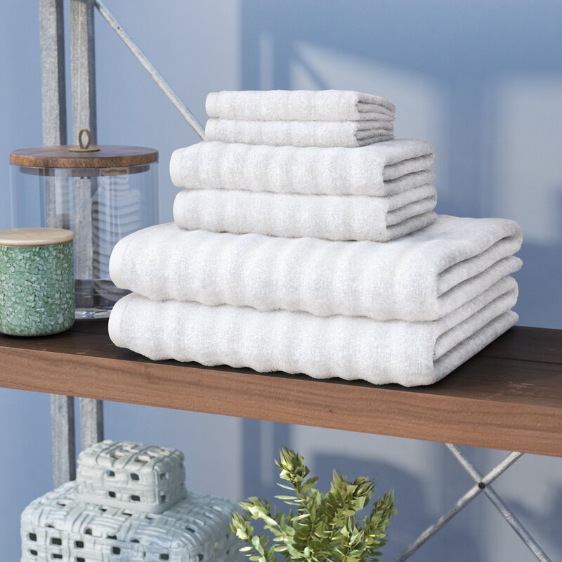 Alverez 6-Piece 100% Cotton Towel Set
