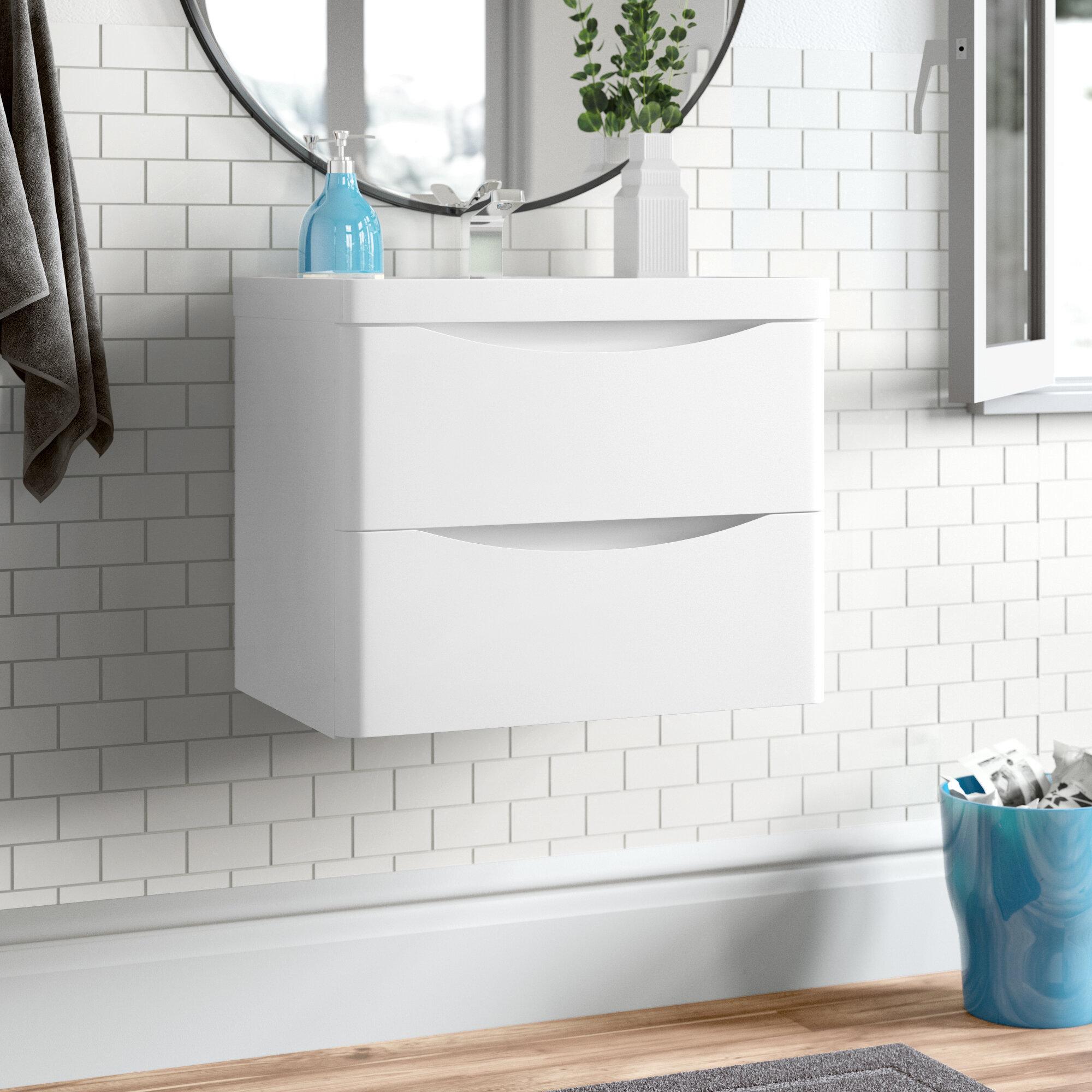 Zipcode Design Corey 600mm Wall Mount Vanity Unit Reviews Wayfair Co Uk