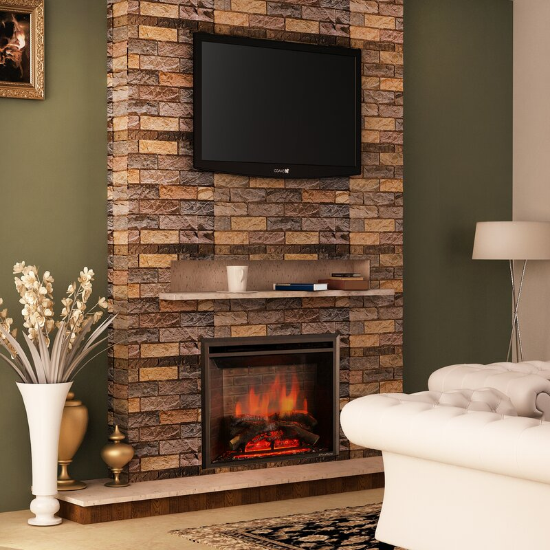 home improvement electric ca wall piano mounted wayfair akdy pdp reviews black fireplace