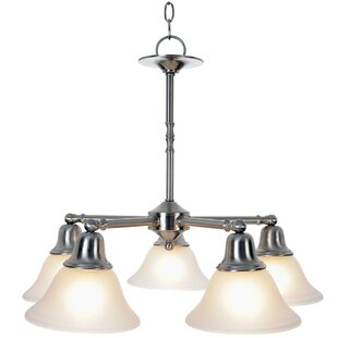 Sonoma 5-Light Shaded Chandelier by Monument